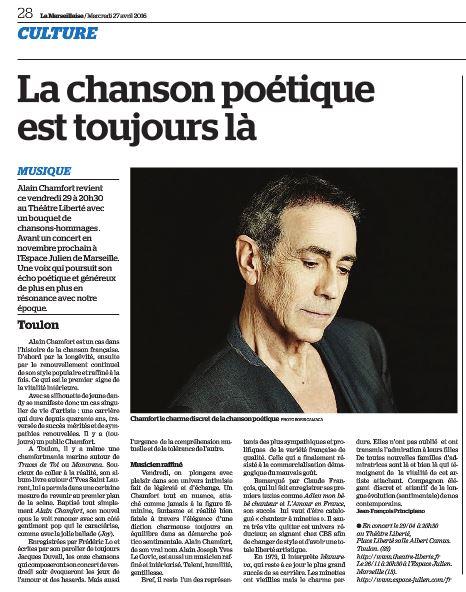 Alain Chamfort La chanson poétique est toujours là