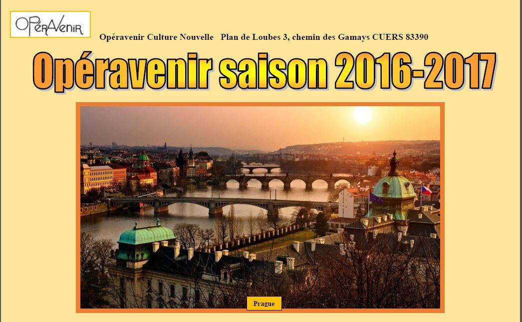 Le programme d'Opéravenir 2016-2017