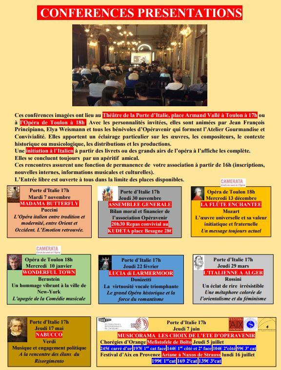 conférence à la Porte d'Italie